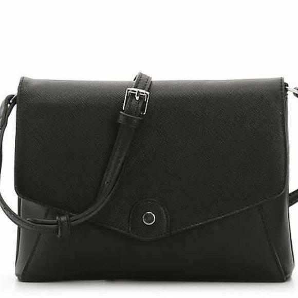 DSW Handbags - DSW Kate + Alex Cuffaro Black Envelope Crossbody